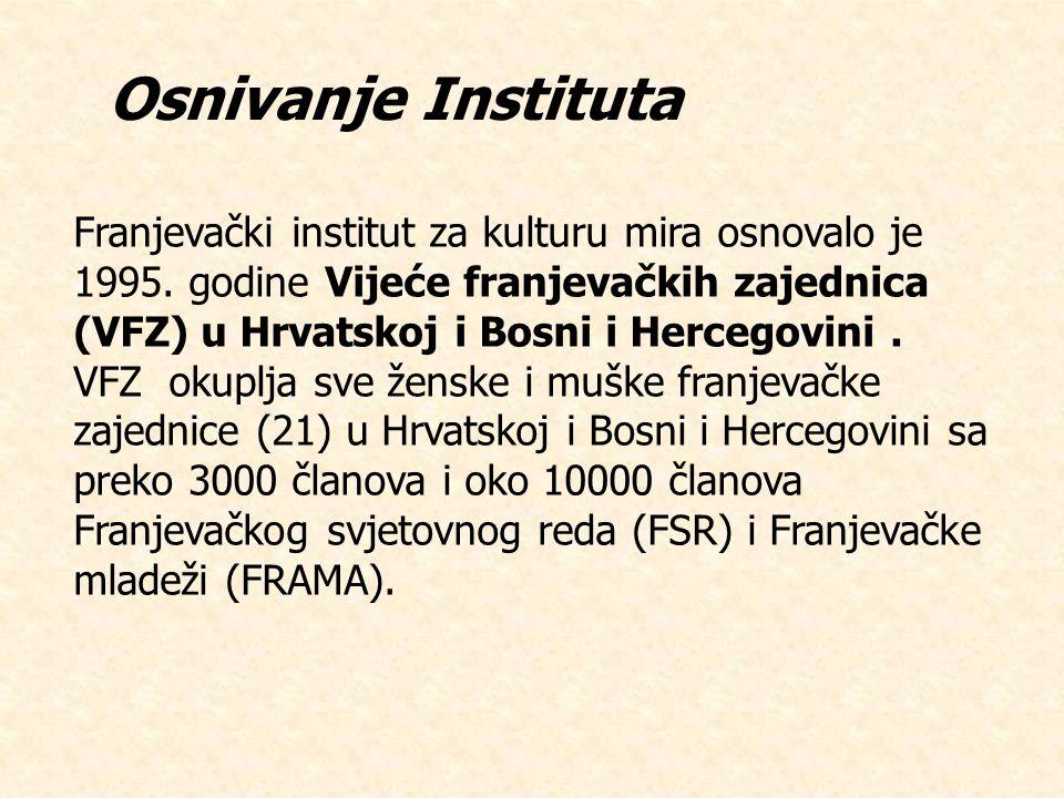 Franjevački institut za kulturu mira osnovalo je 1995.