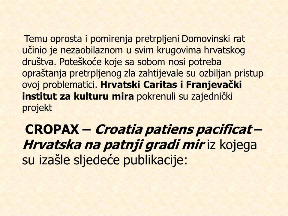 Temu oprosta i pomirenja pretrpljeni Domovinski rat učinio je nezaobilaznom u svim krugovima hrvatskog društva.
