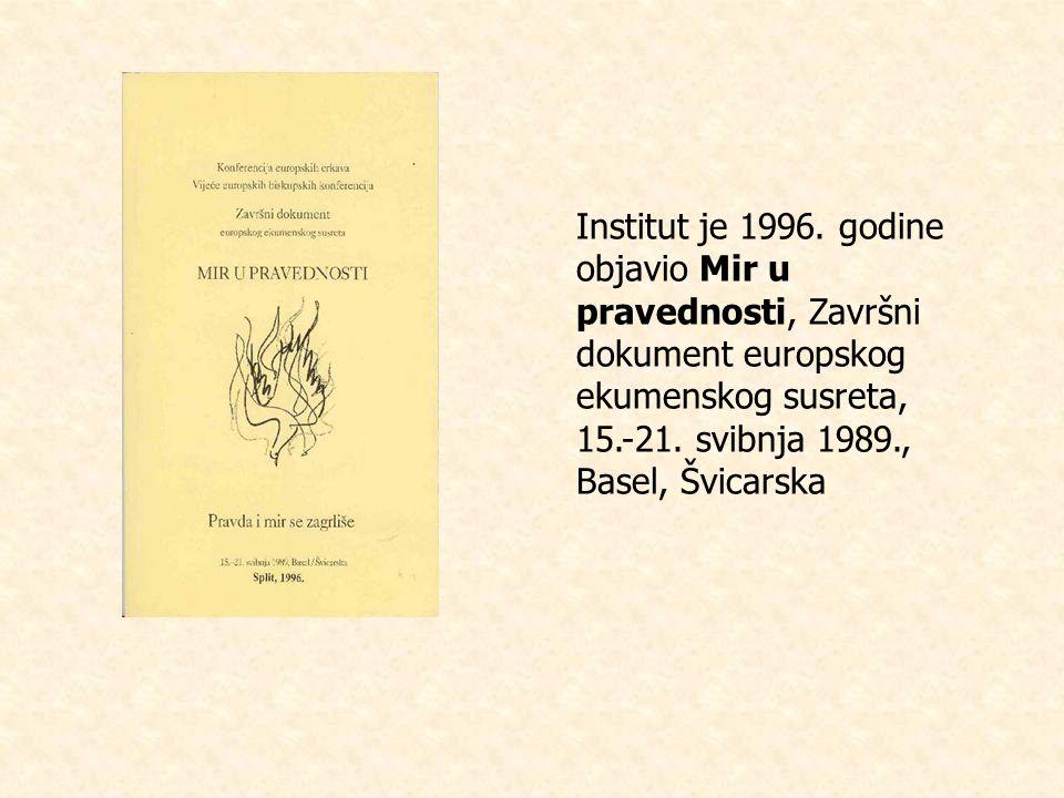Institut je 1996.