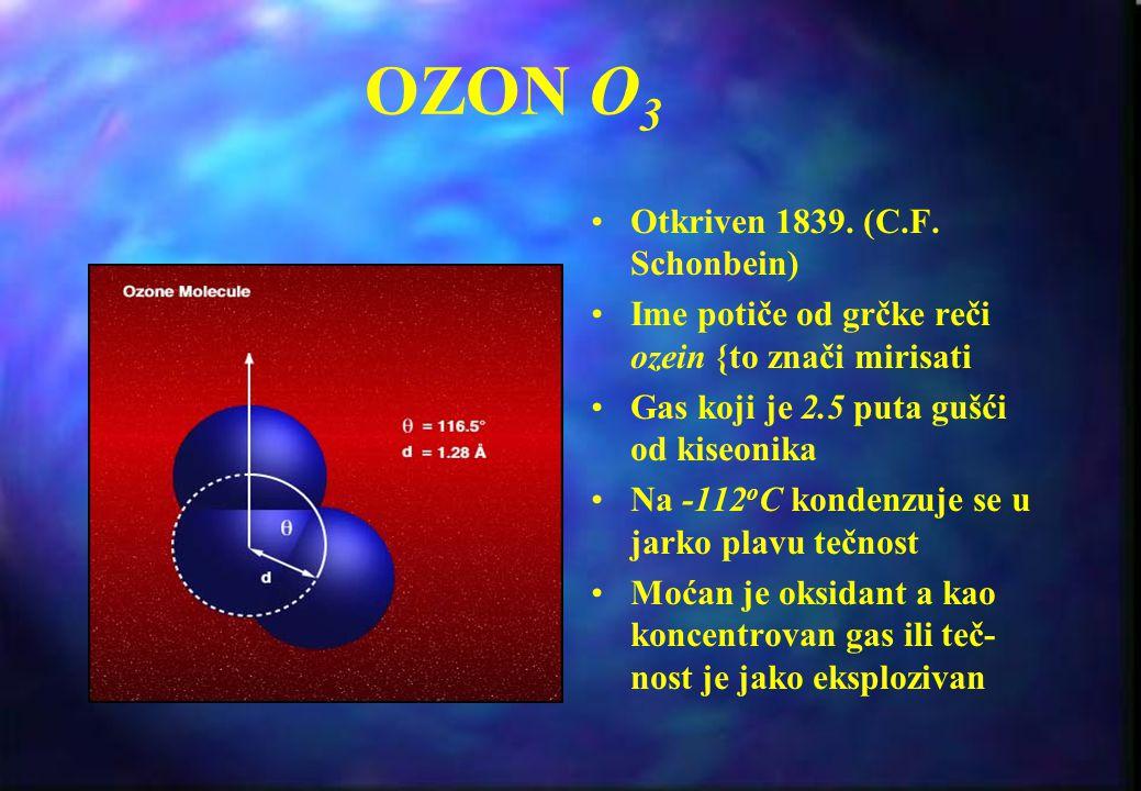 I I deo: Ozonski sloj Zemlje Stvaranje, raspodela i varijacije Uni{tavanje, CFC reakcije Ozonska rupa - trenutno stanje i perspektive