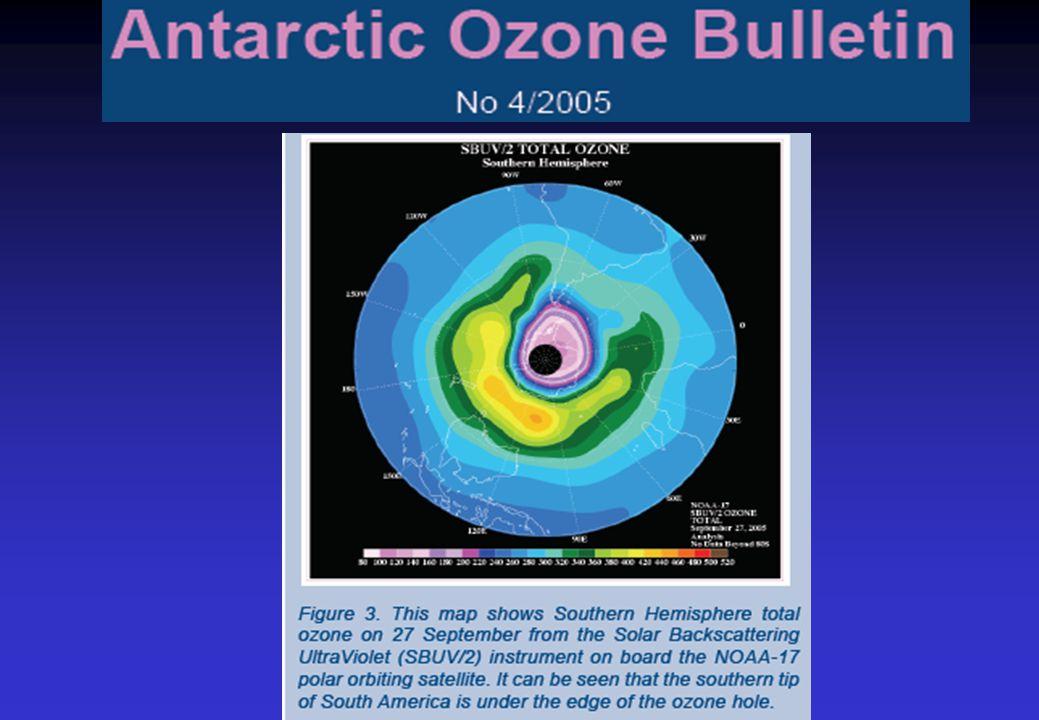 2002. ANTARKTIČKA OZONSKA RUPA SE ZNATNO SMANJILA I PODELILA IPCC upozorava da se to ne može tumačiti kao početak rehabilitacije jer je promena u gran