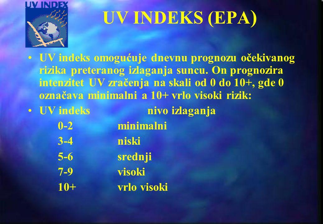 MED MED (Minimal Erythemal Dose) - minimalna iritirajuća doza - je jedinica biolo{ki efektivnog izlaganja UV zracima; predstavlja primljenu dozu za po