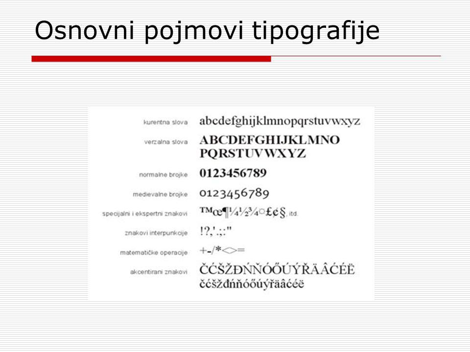 Osnovni pojmovi tipografije
