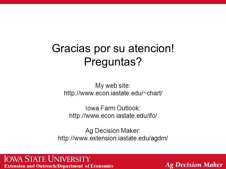 Extension and Outreach/Department of Economics Gracias por su atencion.