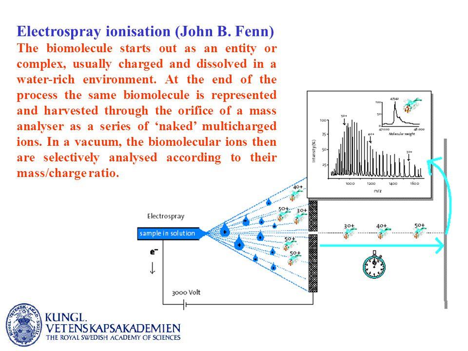 Electrospray ionisation (John B.