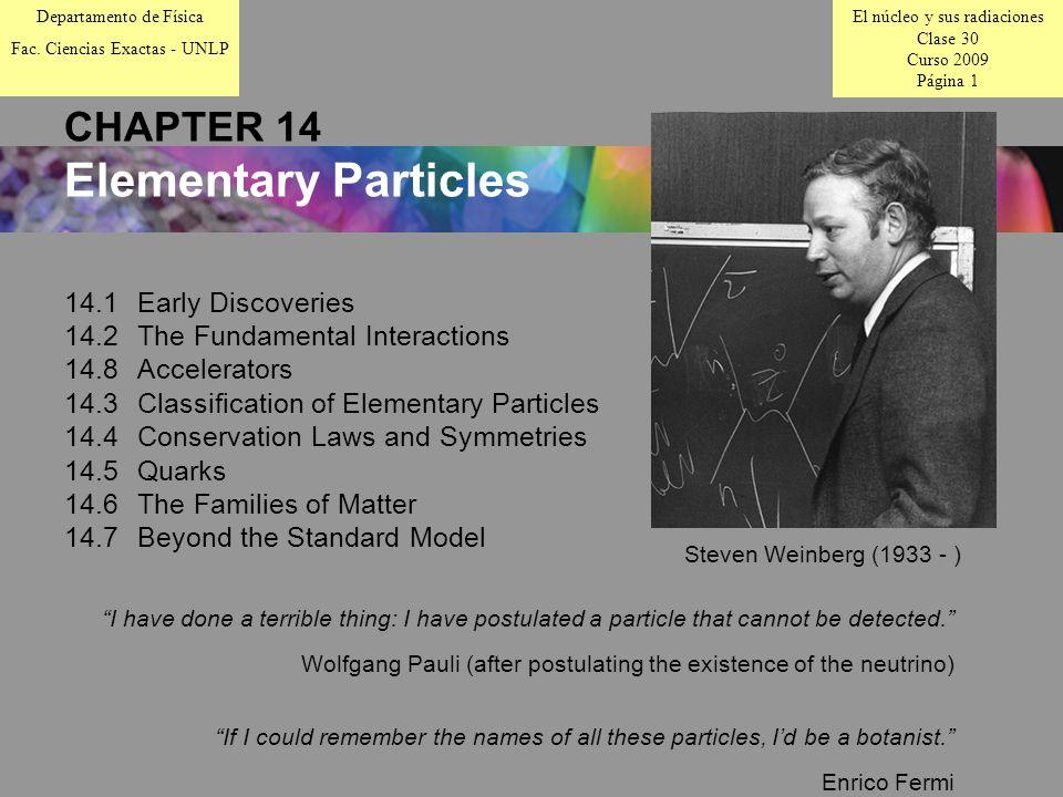 El núcleo y sus radiaciones Clase 30 Curso 2009 Página 1 Departamento de Física Fac.