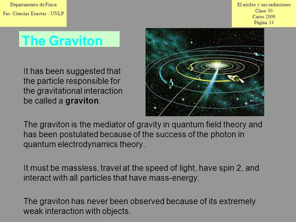 El núcleo y sus radiaciones Clase 30 Curso 2009 Página 14 Departamento de Física Fac.