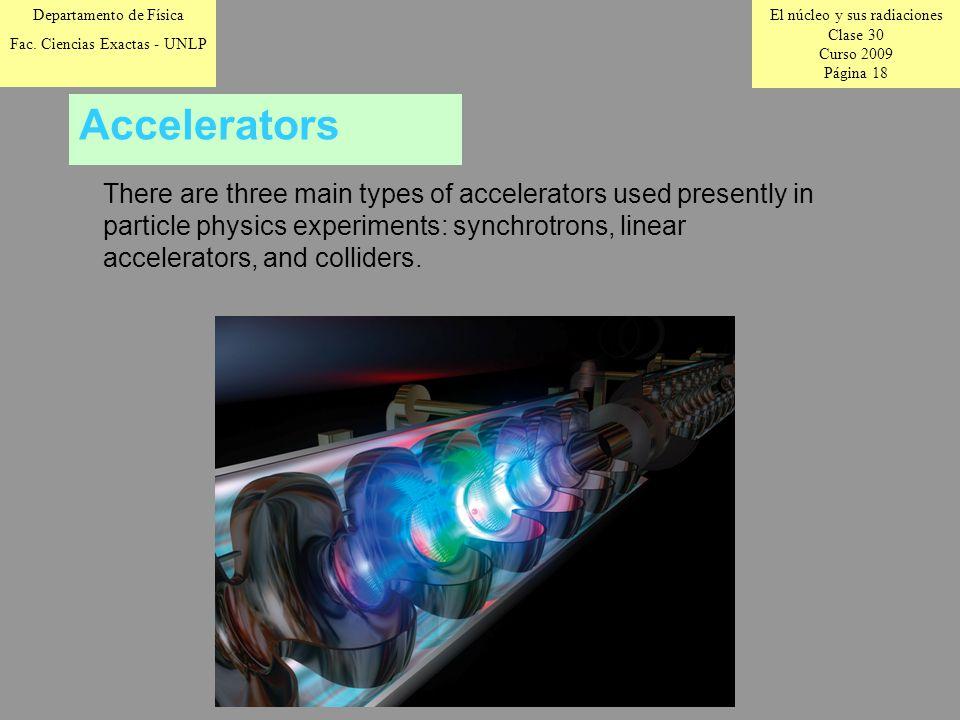 El núcleo y sus radiaciones Clase 30 Curso 2009 Página 18 Departamento de Física Fac.