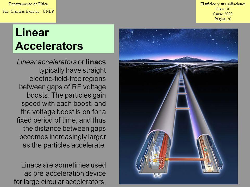 El núcleo y sus radiaciones Clase 30 Curso 2009 Página 20 Departamento de Física Fac.