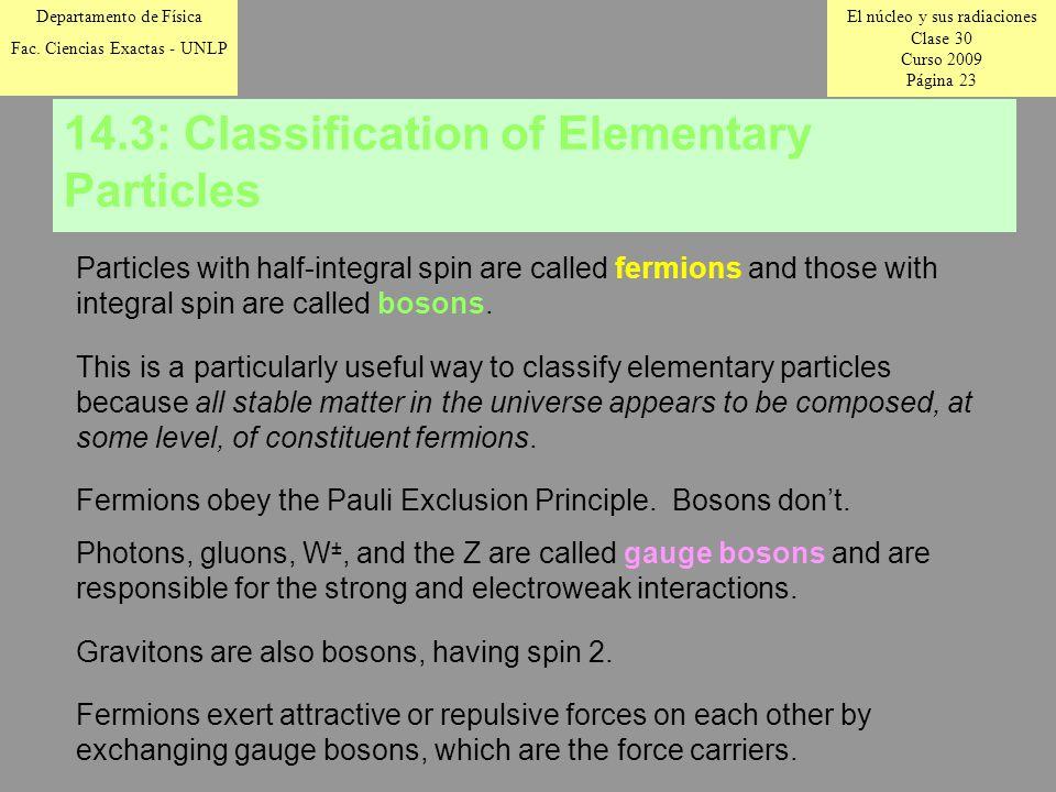 El núcleo y sus radiaciones Clase 30 Curso 2009 Página 23 Departamento de Física Fac.