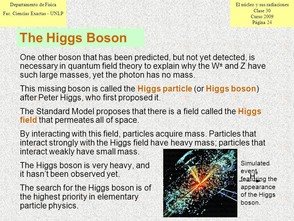 El núcleo y sus radiaciones Clase 30 Curso 2009 Página 24 Departamento de Física Fac.