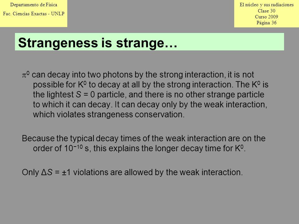 El núcleo y sus radiaciones Clase 30 Curso 2009 Página 36 Departamento de Física Fac.