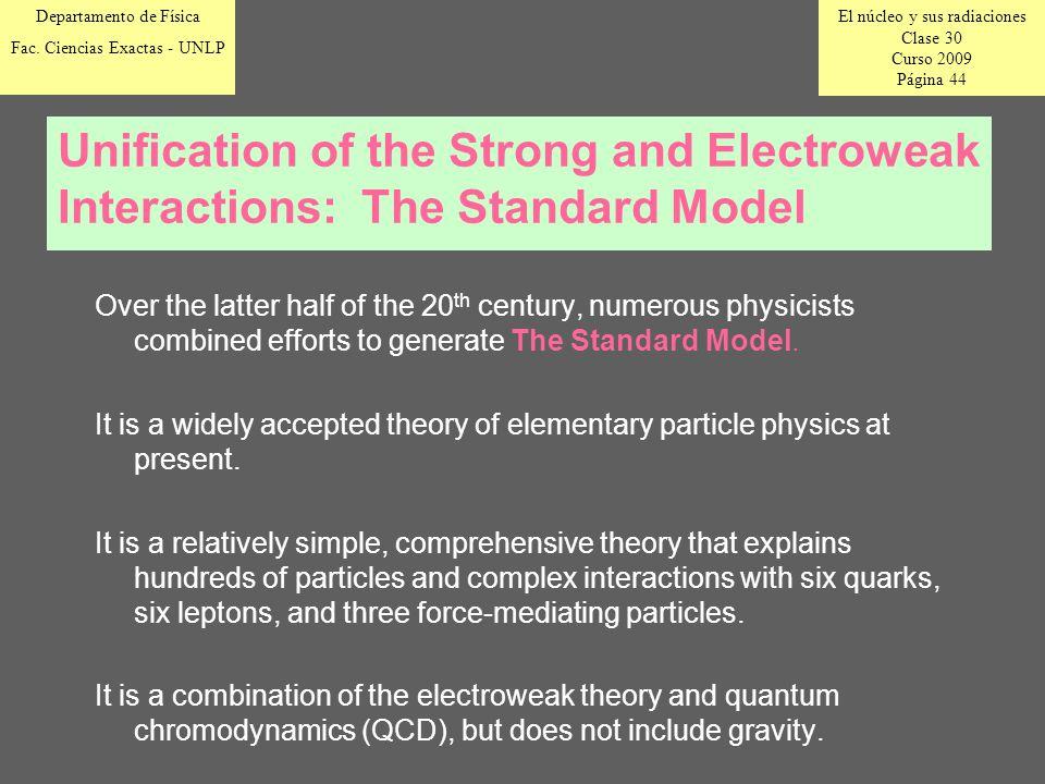 El núcleo y sus radiaciones Clase 30 Curso 2009 Página 44 Departamento de Física Fac.