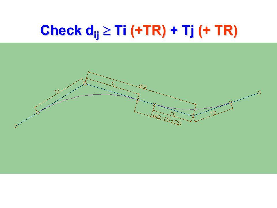 Check d ij  Ti (+TR) + Tj (+ TR)
