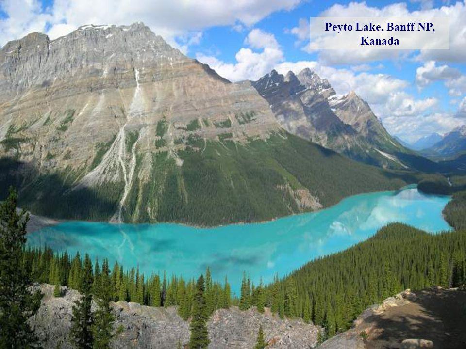 Morénové jezero, Banff NP, Kanada