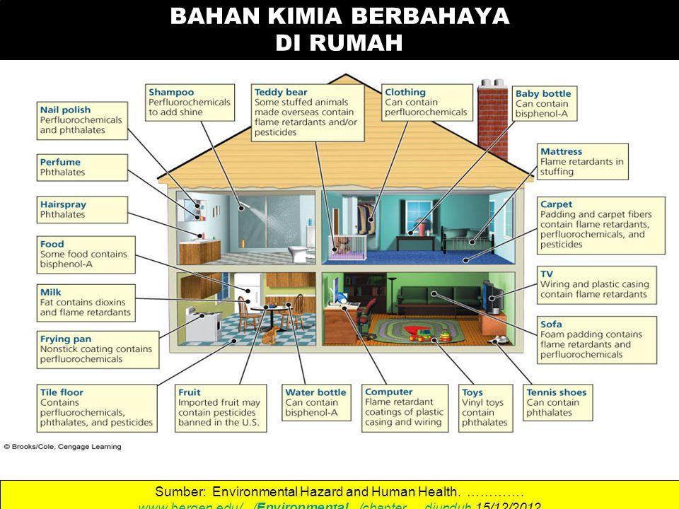 BAHAN KIMIA BERBAHAYA DI RUMAH Sumber: Environmental Hazard and Human Health.