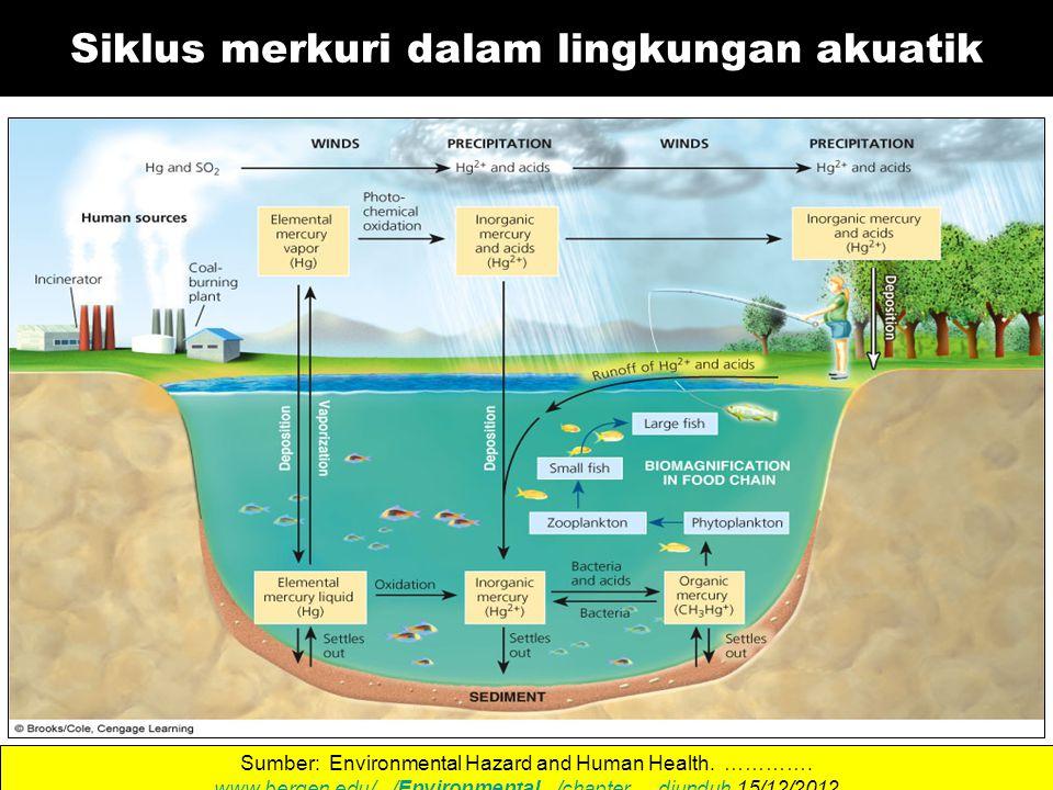 Siklus merkuri dalam lingkungan akuatik Sumber: Environmental Hazard and Human Health.