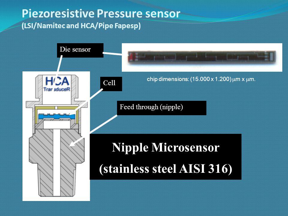 PiezoMOS Pressure sensor Sensitivity: 9 mV/psi Power consumption: 3  W.