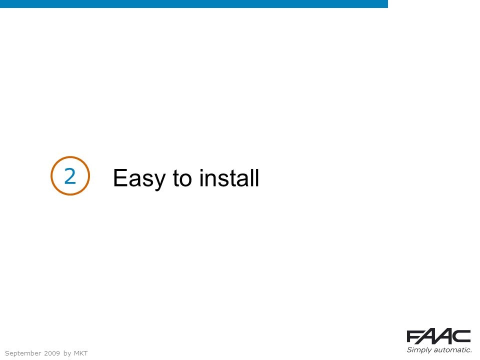 September 2009 by MKT Easy to install 2