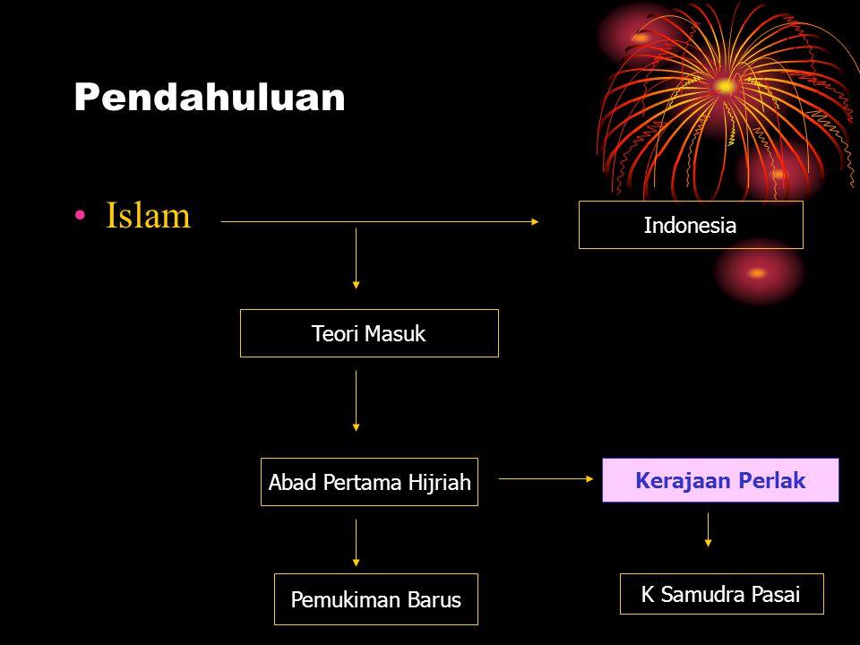 Pendahuluan Islam Indonesia Teori Masuk Abad Pertama Hijriah Pemukiman Barus Kerajaan Perlak K Samudra Pasai
