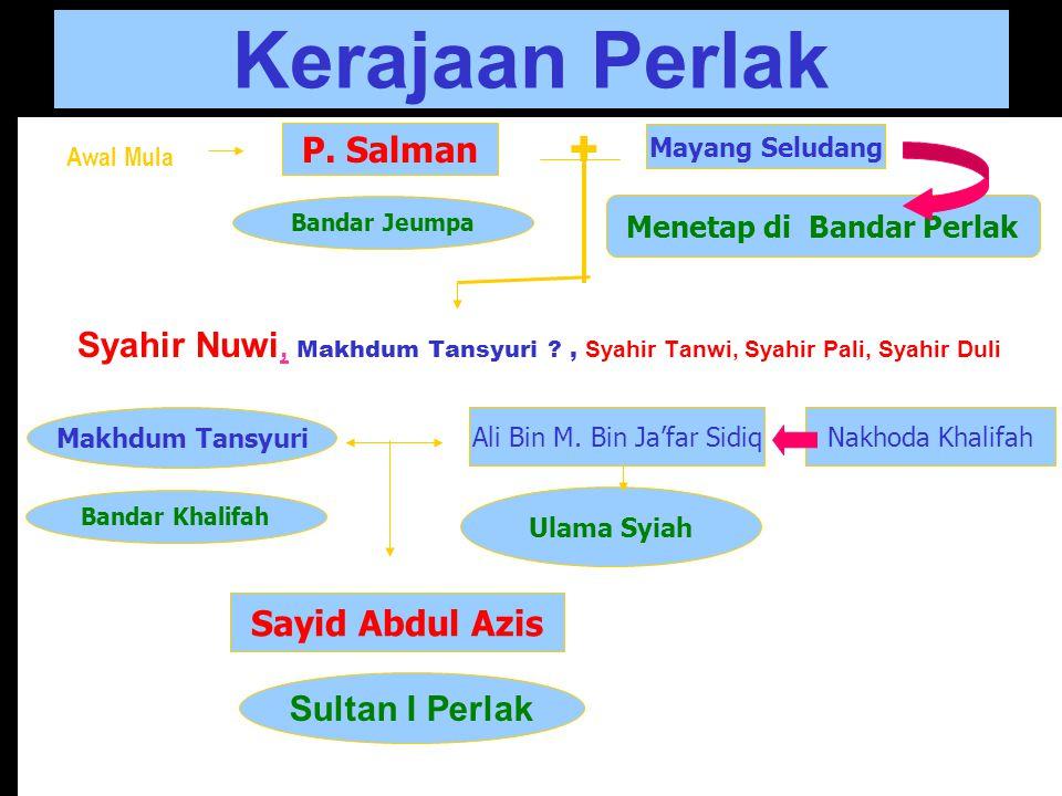 """Nama Perlak Perkiraan: nama Kayei Peureulak """"Negeri Perlak"""". Para Pedagang (sebelum Islam) Cina, India, Arab Persia, menyebut """"Bandar Perlak"""" Negeri P"""