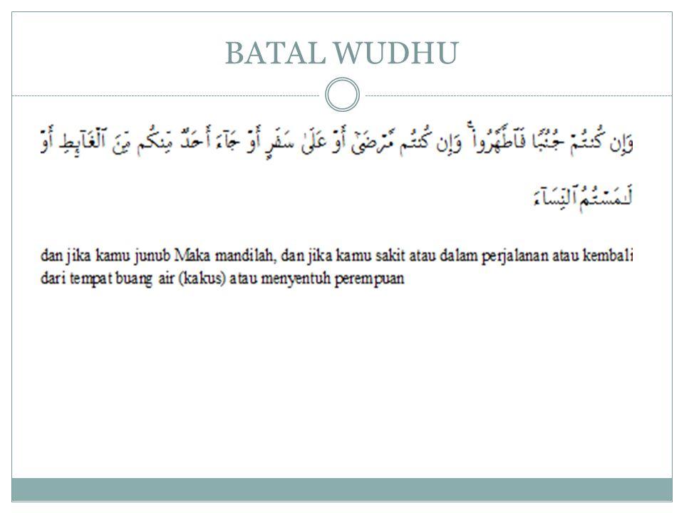BATAL WUDHU