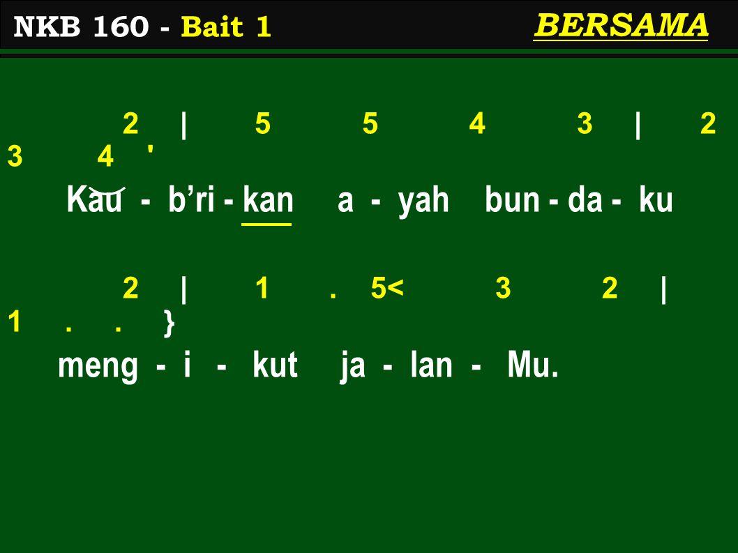2 | 5 5 4 3 | 2 3 4 Kau - b'ri - kan a - yah bun - da - ku 2 | 1.