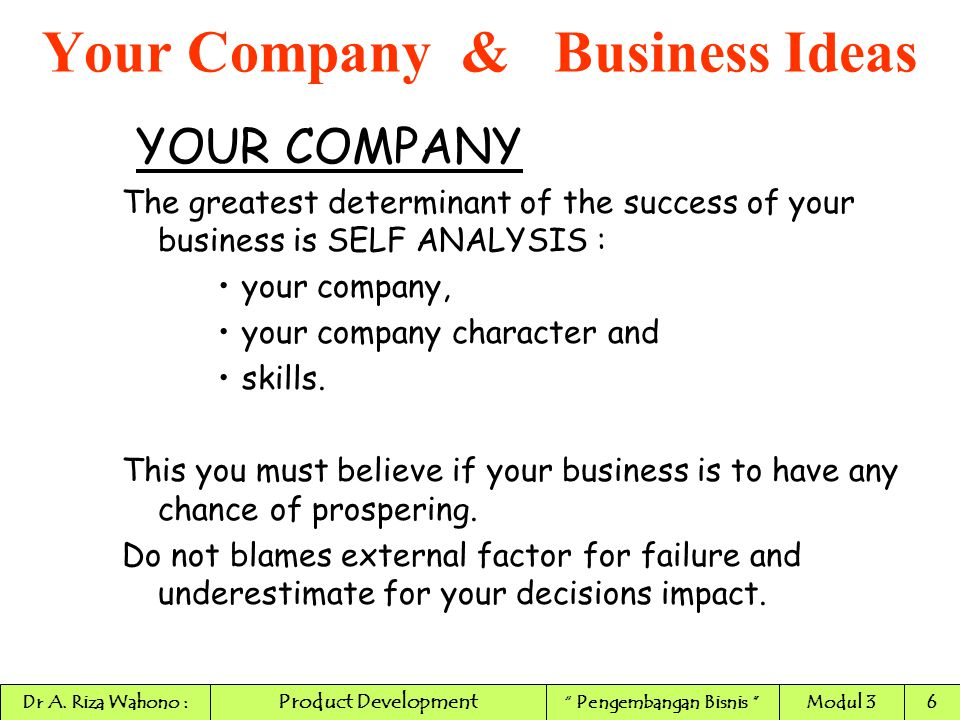 WHO ARE YOU/your company.
