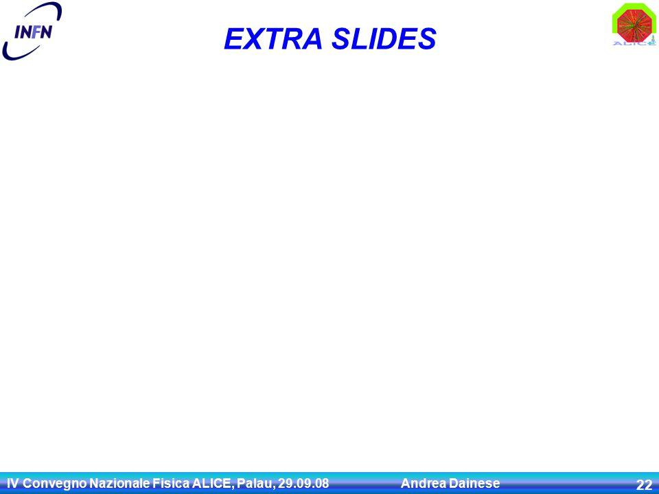 IV Convegno Nazionale Fisica ALICE, Palau, 29.09.08 Andrea Dainese 22 EXTRA SLIDES