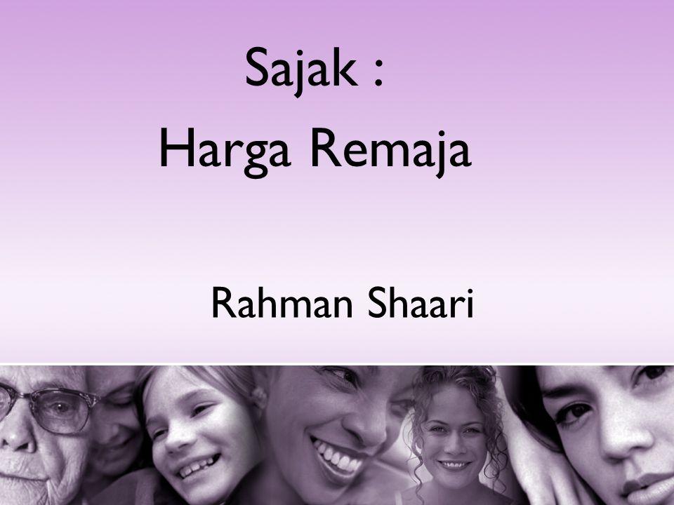 Rahman Shaari Sajak : Harga Remaja