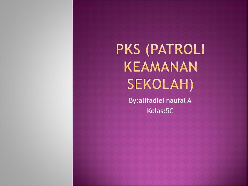 PPKS adalah ekstrakulikuler yang wajib untuk kelas 5 SD muhamadiyah condong catur KKepanjangan PKS adalah ( Patroli Keamanan Sekolah )