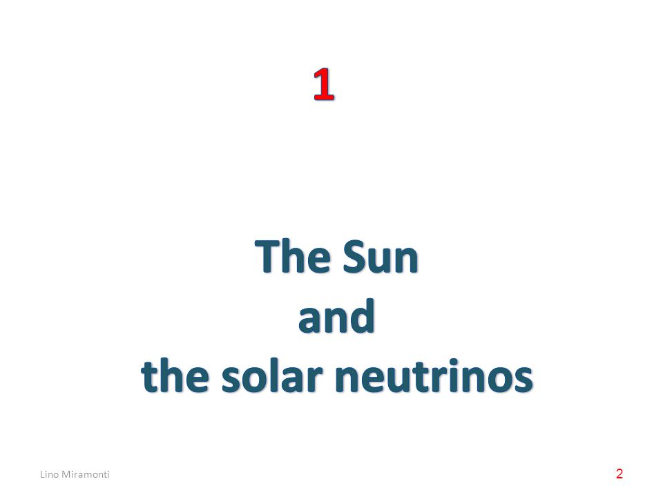 Lino Miramonti23 How to detect Solar Neutrinos.