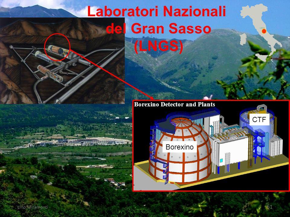 Lino Miramonti 61 Borexino Detector and Plants Borexino CTF Laboratori Nazionali del Gran Sasso (LNGS)
