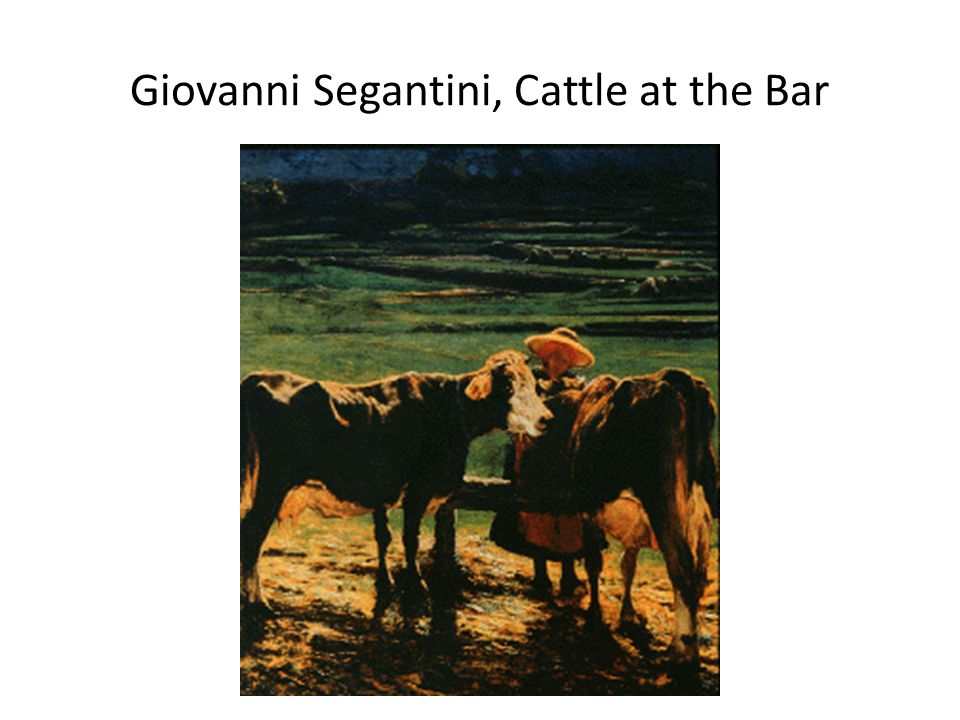 Giovanni Segantini, Cattle at the Bar