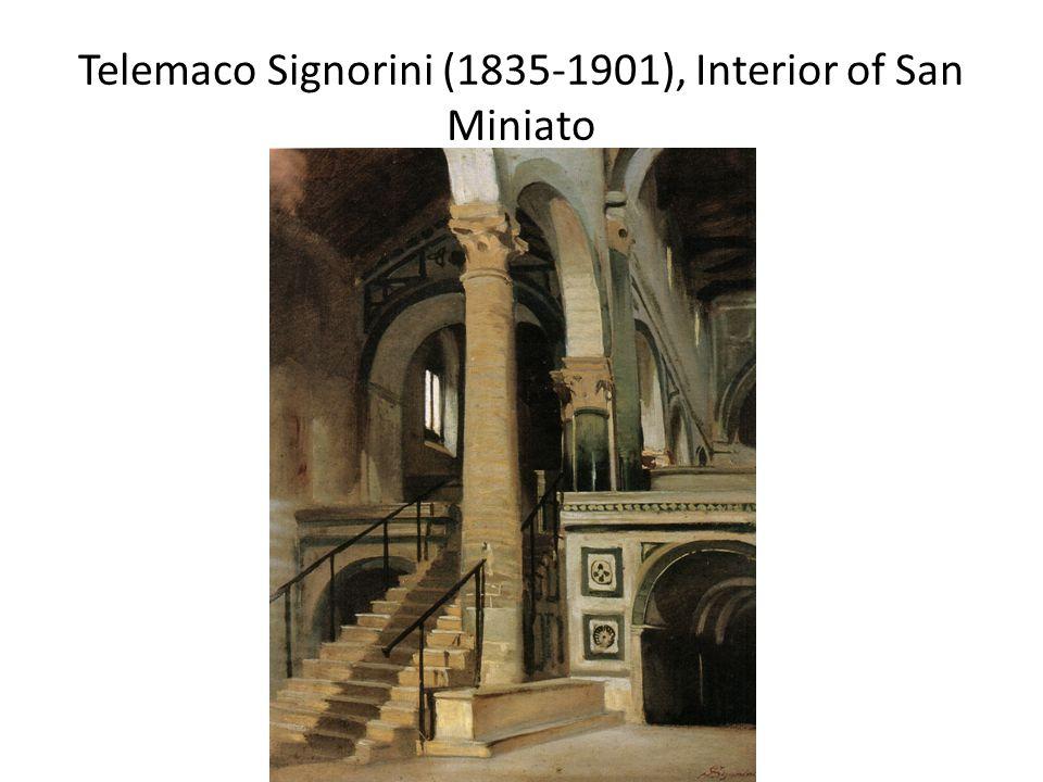 Telemaco Signorini (1835-1901), Interior of San Miniato
