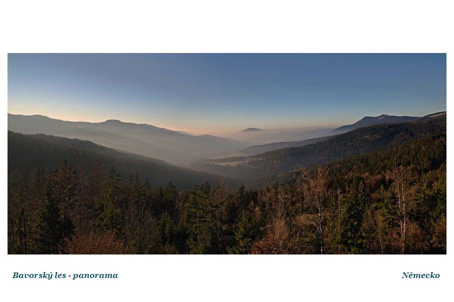 Bavorský les - panoramaNěmecko
