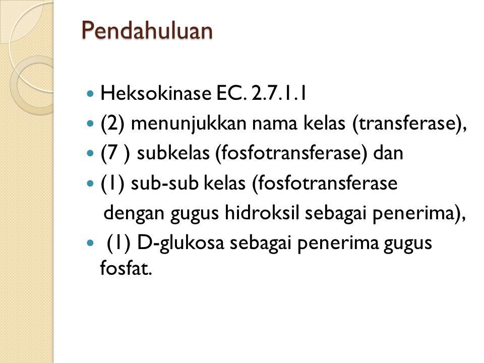 Pendahuluan Heksokinase EC.