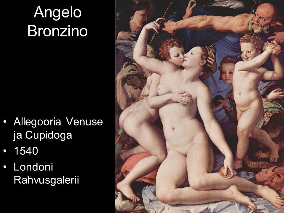 Angelo Bronzino Allegooria Venuse ja Cupidoga 1540 Londoni Rahvusgalerii
