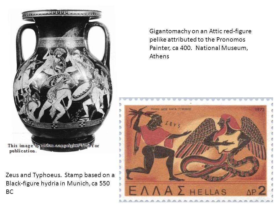 Zeus and Typhoeus.