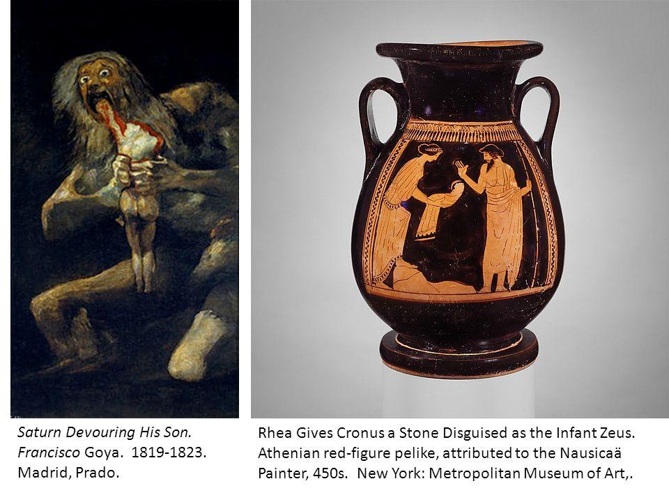 Saturn Devouring His Son.Francisco Goya. 1819-1823.