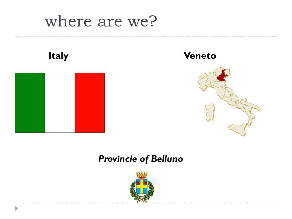 where are we Italy Veneto Provincie of Belluno