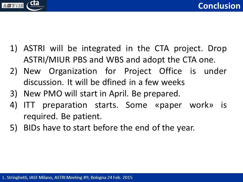 Conclusion 17 L. Stringhetti, IASF Milano, ASTRI Meeting #9, Bologna 24 Feb.