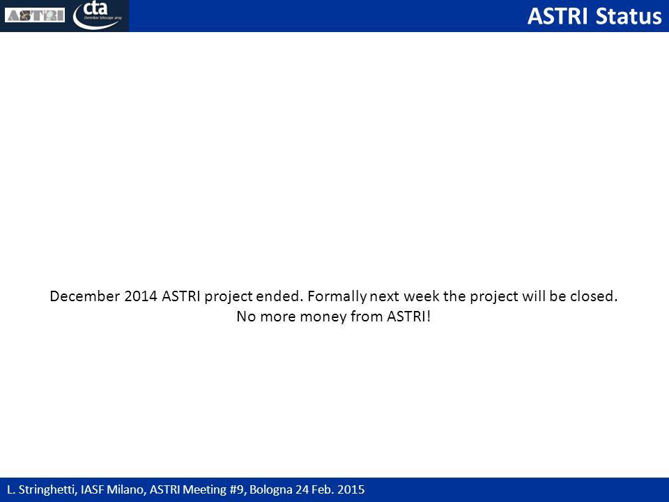 ASTRI Status 2 L. Stringhetti, IASF Milano, ASTRI Meeting #9, Bologna 24 Feb.