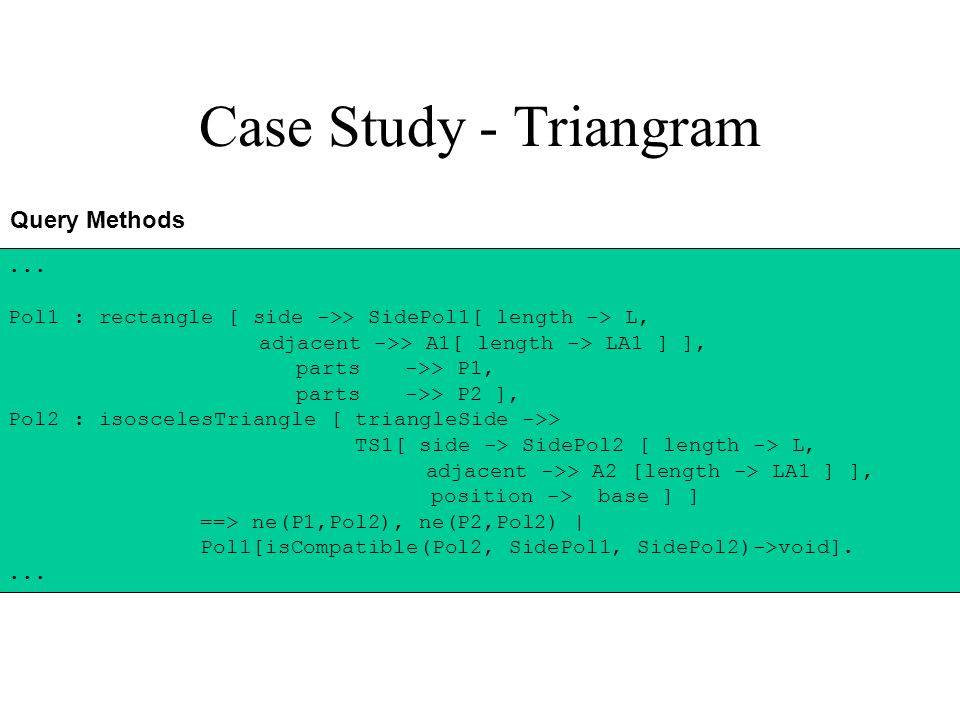 Case Study - Triangram Query Methods...