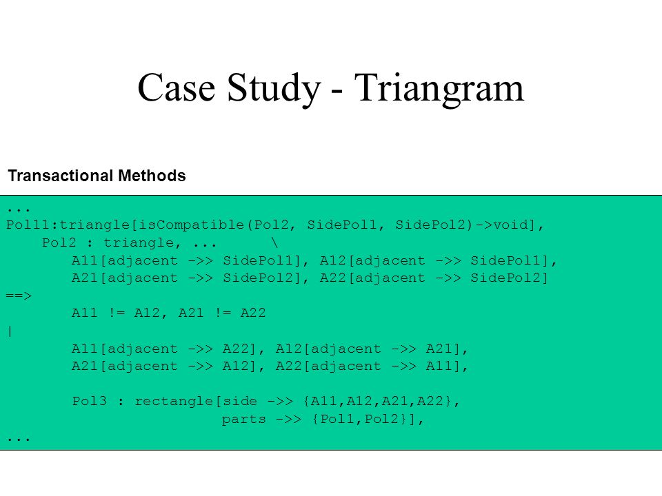 Case Study - Triangram Transactional Methods...