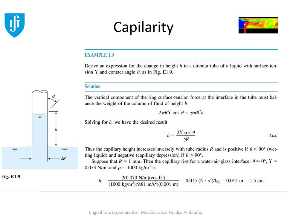 Engenharia do Ambiente - Mecânica dos Fluidos Ambiental Capilarity