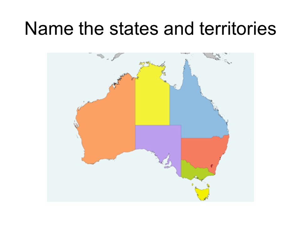 Name the states and territories
