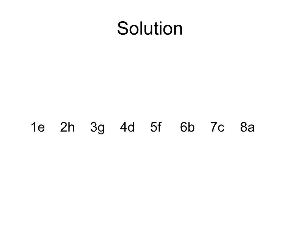 Solution 1e2h3g4d5f6b7c8a