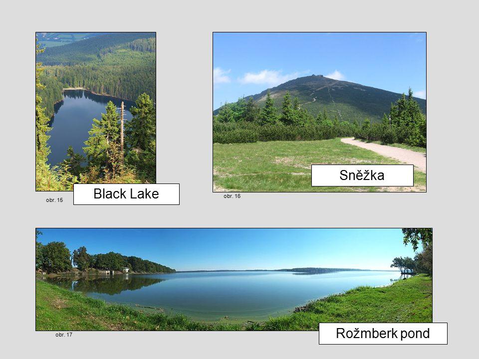 Rožmberk pond Black Lake Sněžka obr. 15 obr. 16 obr. 17