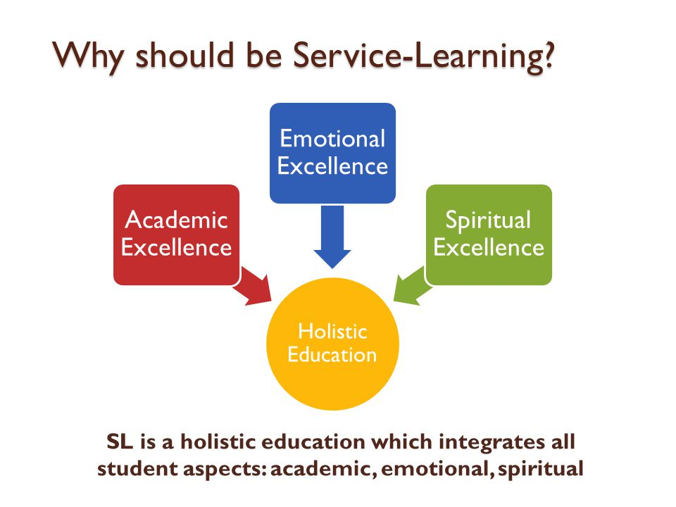 Why should be Service-Learning.